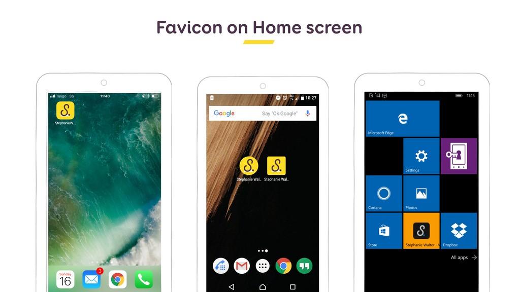Favicon on Home screen
