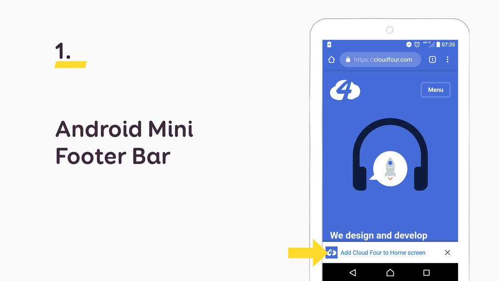 Android Mini Footer Bar 1.