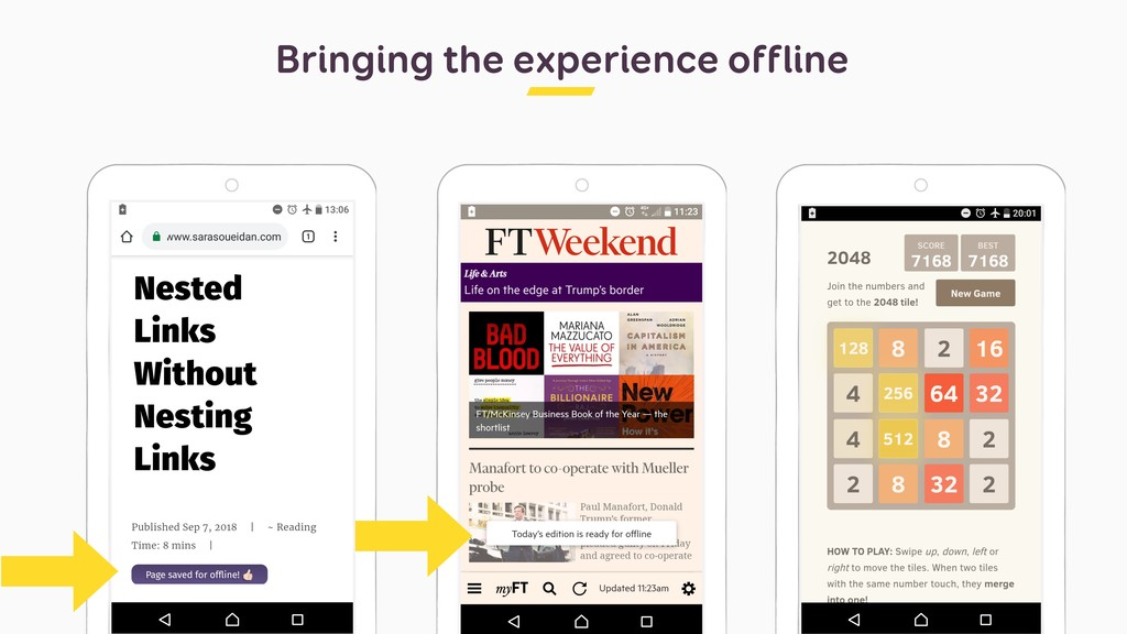 Bringing the experience offline