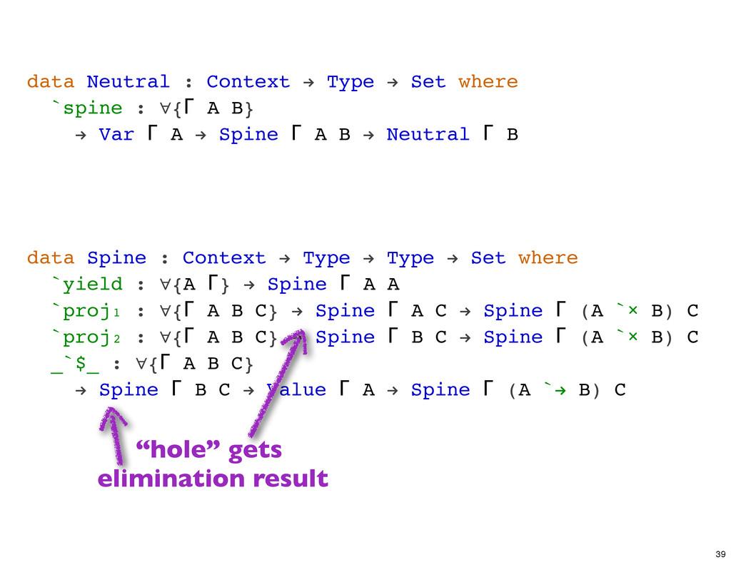 data Neutral : Context ! Type ! Set where `spin...
