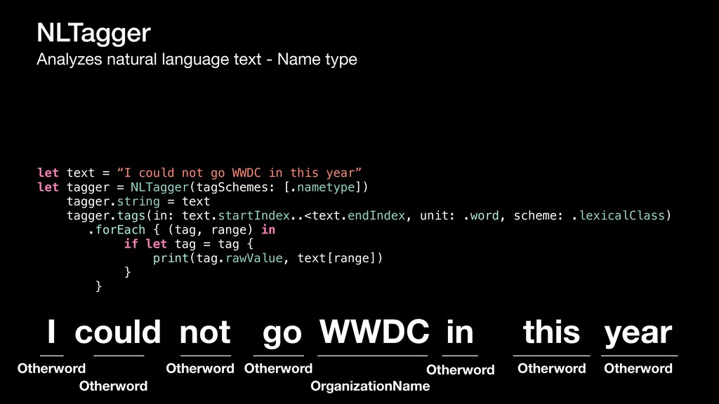 NLTagger Analyzes natural language text - Name ...