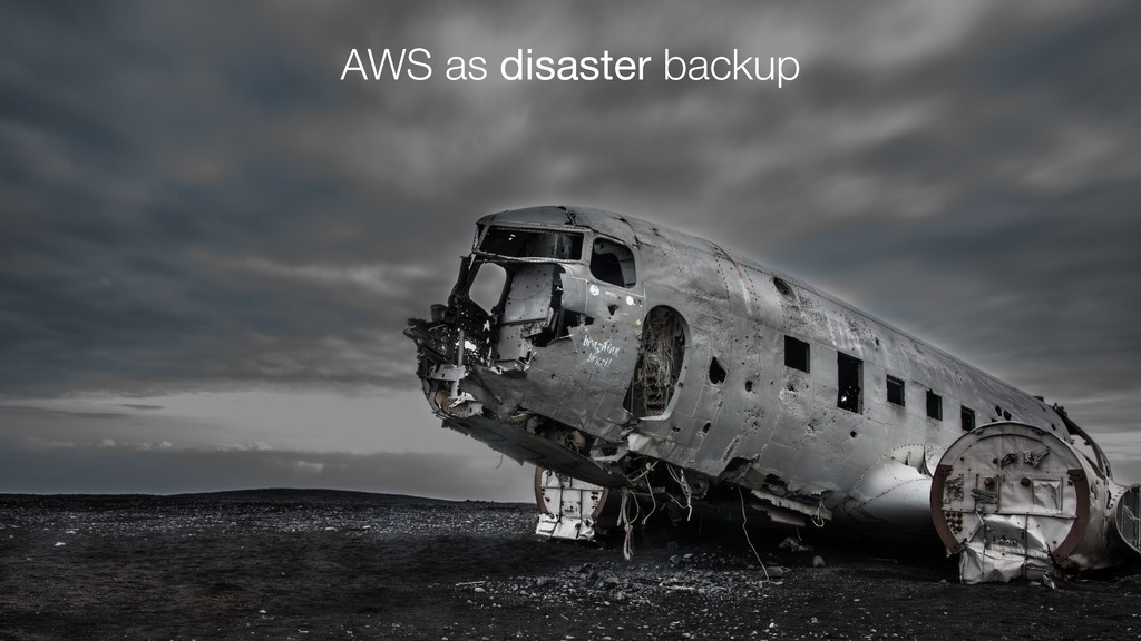 AWS as disaster backup