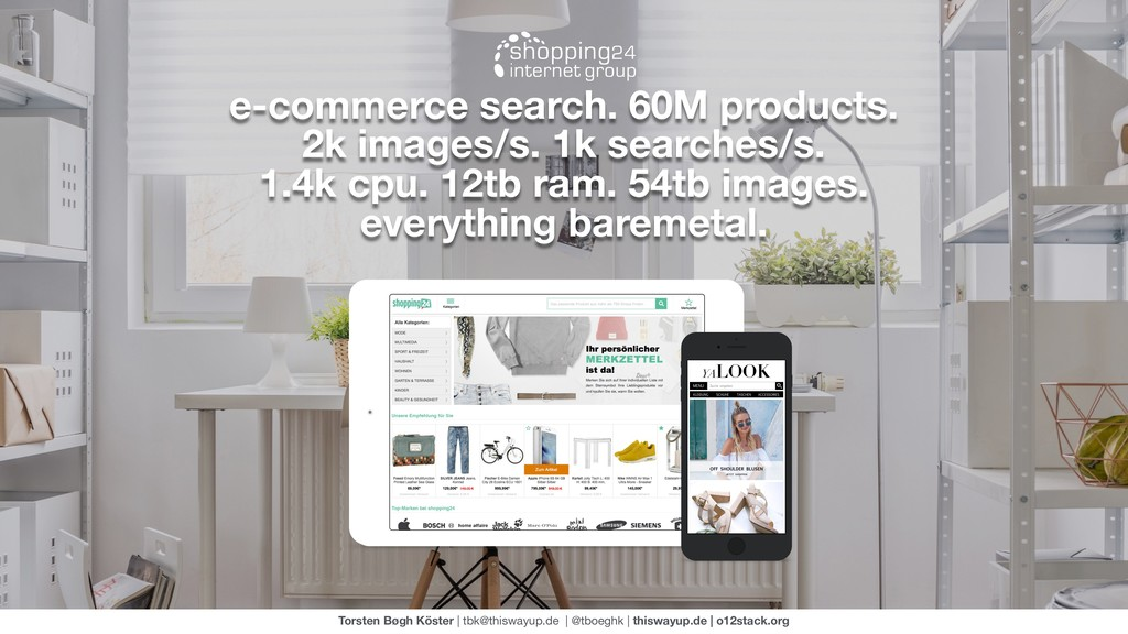 e-commerce search. 60M products. 2k images/s. 1...