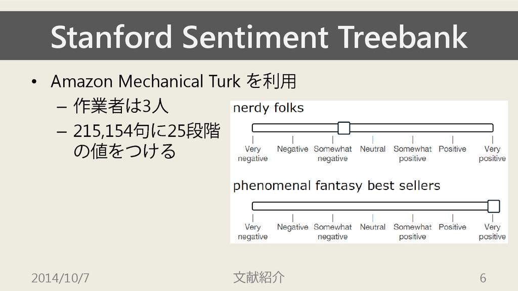 Stanford Sentiment Treebank • Amazon Mechanical...