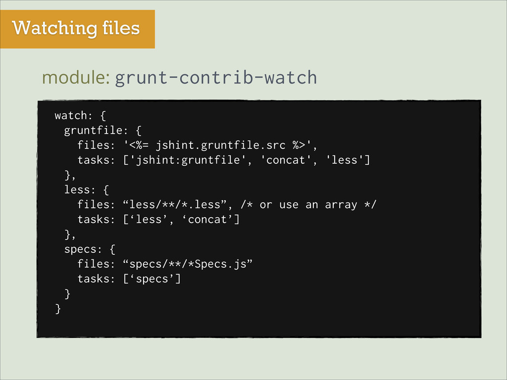 Watching files module: grunt-contrib-watch watc...