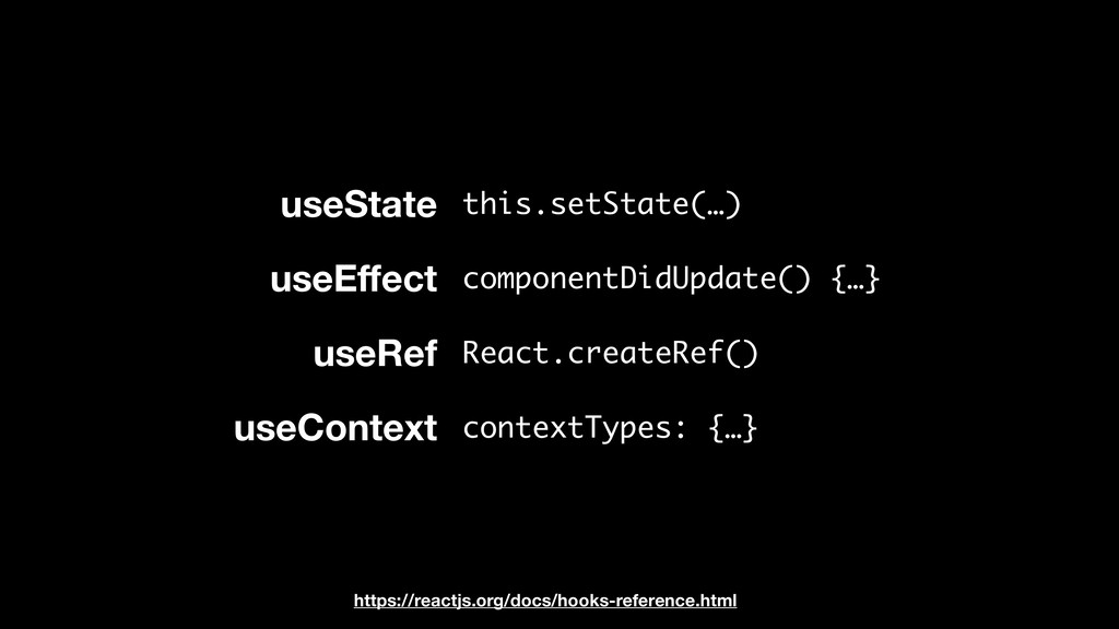 useState useEffect useRef useContext this.setSta...