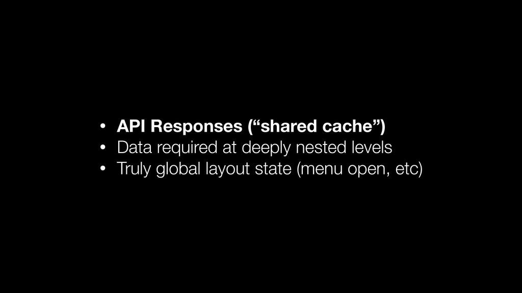 "• API Responses (""shared cache"") • Data require..."