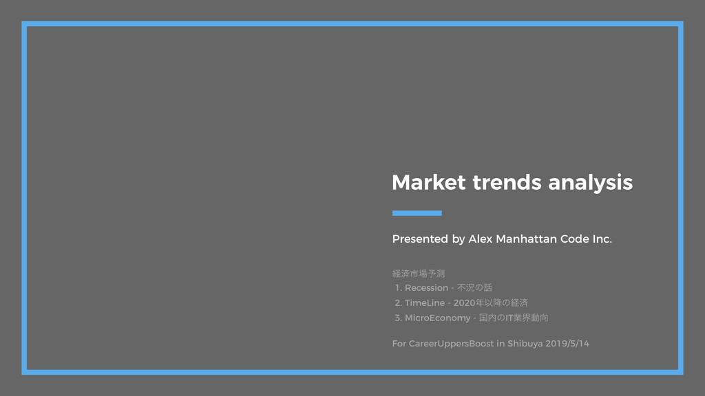 Presented by Alex Manhattan Code Inc. Market tr...