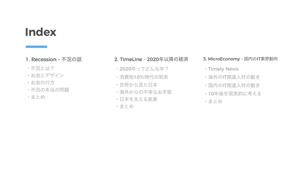 2. TimeLine - 2020Ҏ߱ͷܦࡁ ɾ2020ͬͯͲΜͳʁ ɾফඅ੫10ˋ...