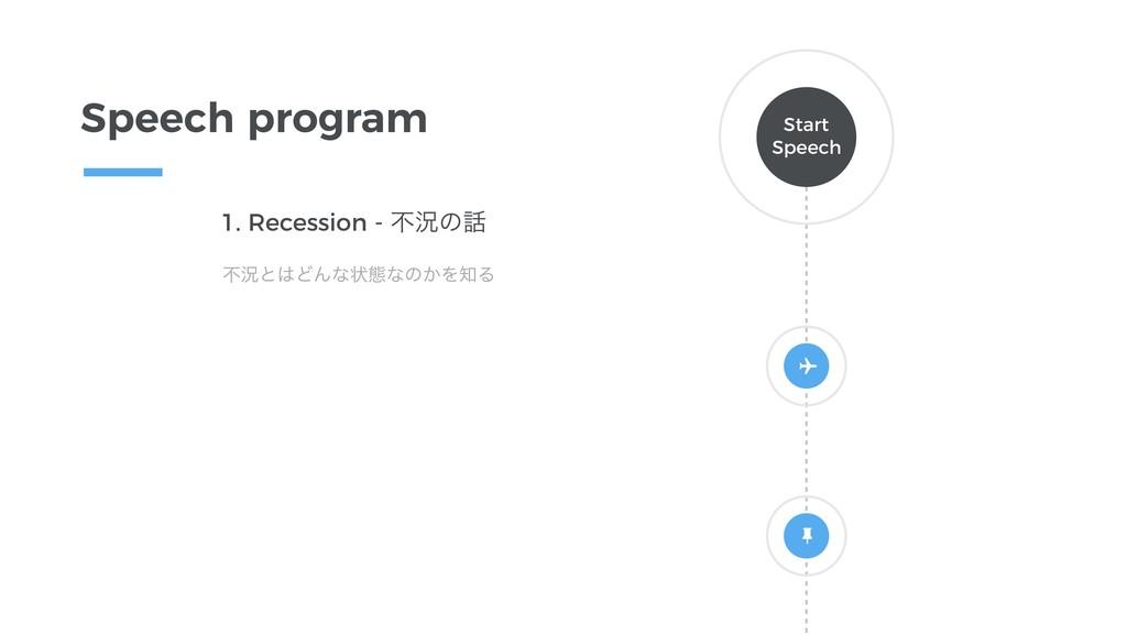 1. Recession - ෆگͷ ෆگͱͲΜͳঢ়ଶͳͷ͔ΛΔ Speech prog...