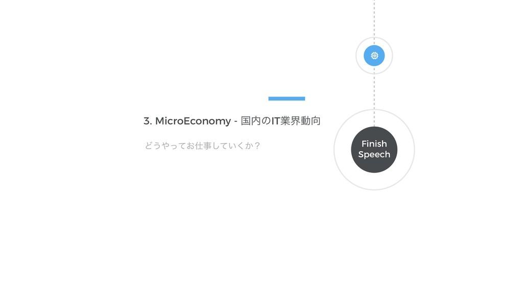 Finish Speech 3. MicroEconomy - ࠃͷITۀքಈ Ͳ͏ͬͯ...