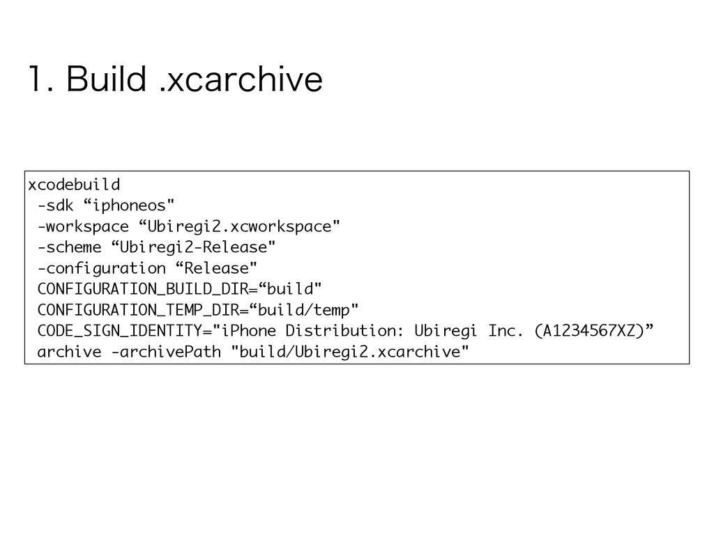 "xcodebuild -sdk ""iphoneos"" -workspace ""Ubiregi2..."