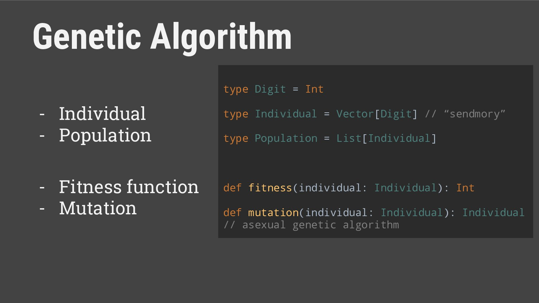 Genetic Algorithm - Individual - Population - F...