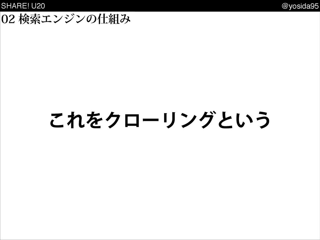 SHARE! U20 @yosida95 ͜ΕΛΫϩʔϦϯάͱ͍͏ ݕࡧΤϯδϯͷΈ