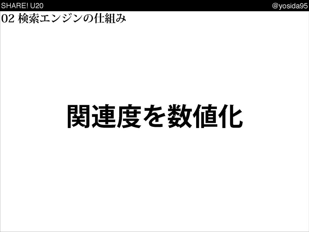 SHARE! U20 @yosida95 ݕࡧΤϯδϯͷΈ ؔ࿈ΛԽ