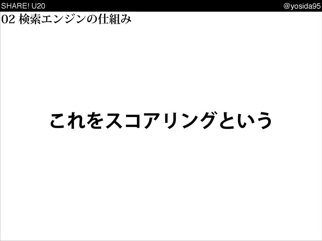 SHARE! U20 @yosida95 ͜ΕΛείΞϦϯάͱ͍͏ ݕࡧΤϯδϯͷΈ