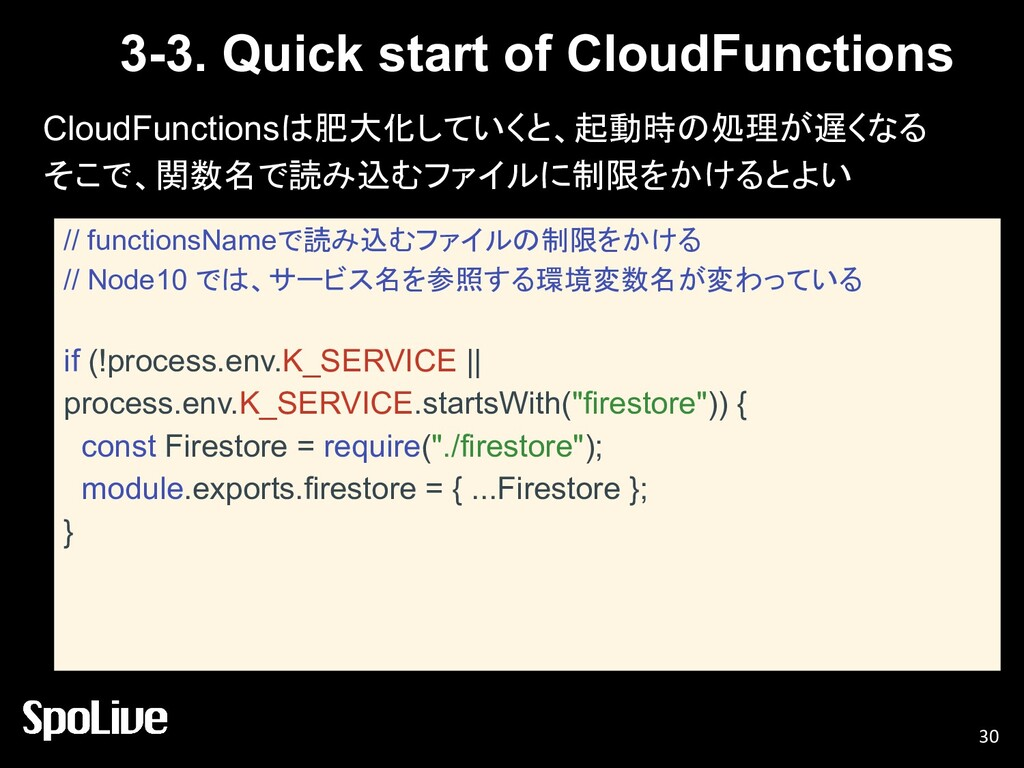 3-3. Quick start of CloudFunctions CloudFunctio...