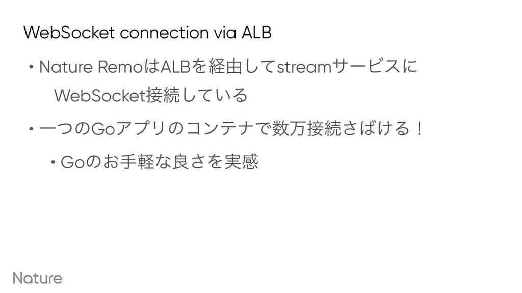 WebSocket connection via ALB • Nature RemoALBΛ...