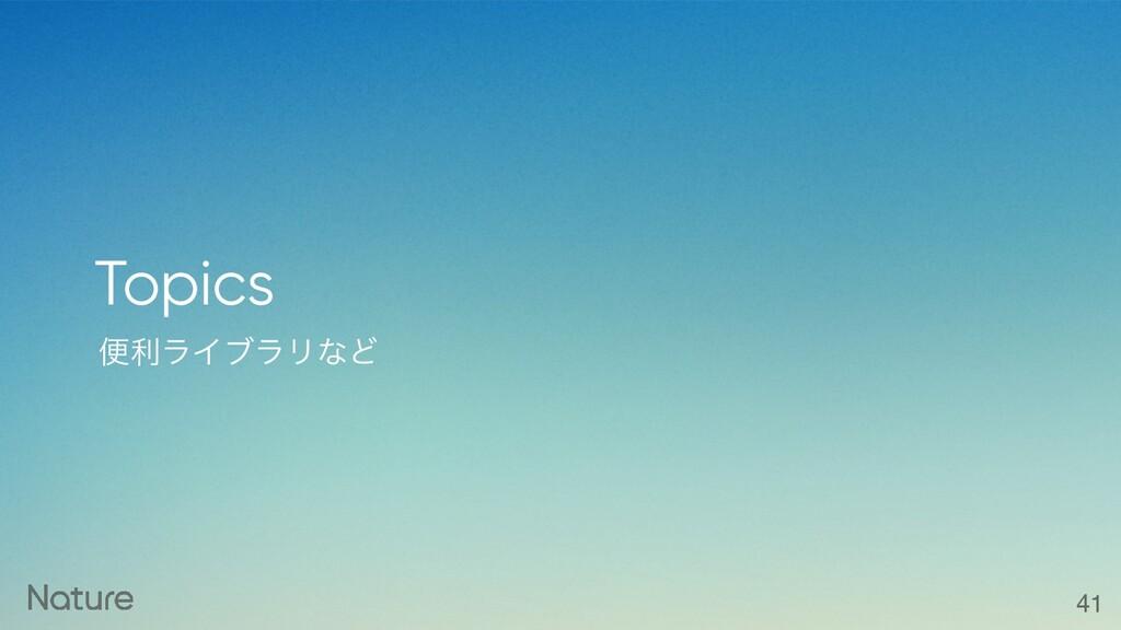 ศརϥΠϒϥϦͳͲ Topics 41
