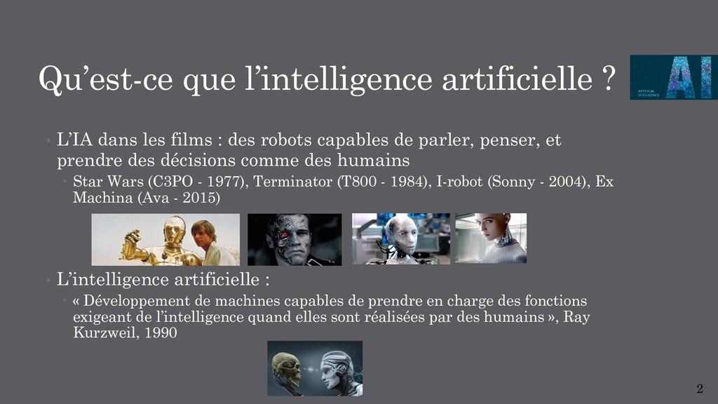 Qu'est-ce que l'intelligence artificielle ? • L...