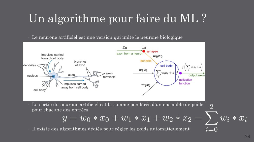 • Le neurone artificiel est une version qui imi...