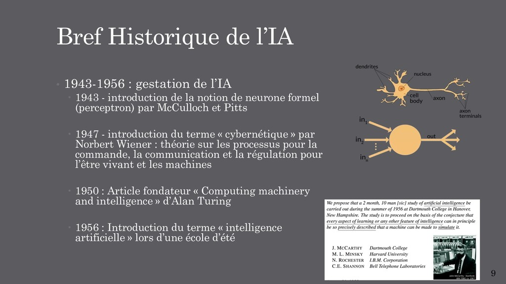 • 1943-1956 : gestation de l'IA – 1943 - intro...