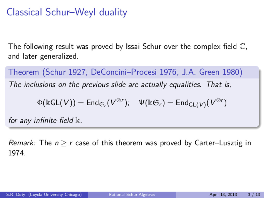 Classical Schur–Weyl duality The following resu...