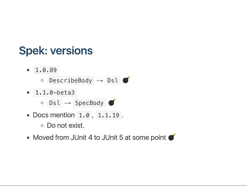 S pek: versions 1 . 0 . 8 9 D e s c r i b e B o...