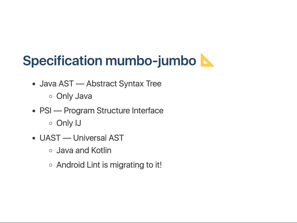 S pecification mumbo‑jumbo J av a AST — A bstr ...