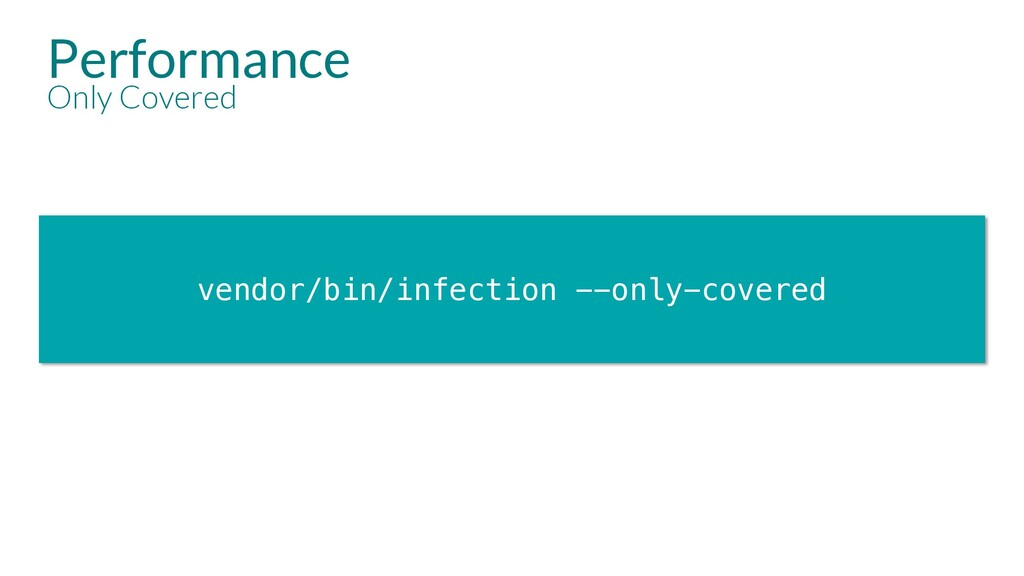 vendor/bin/infection --only-covered Performance...