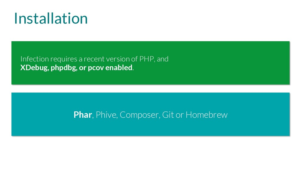 Installation Phar, Phive, Composer, Git or Home...