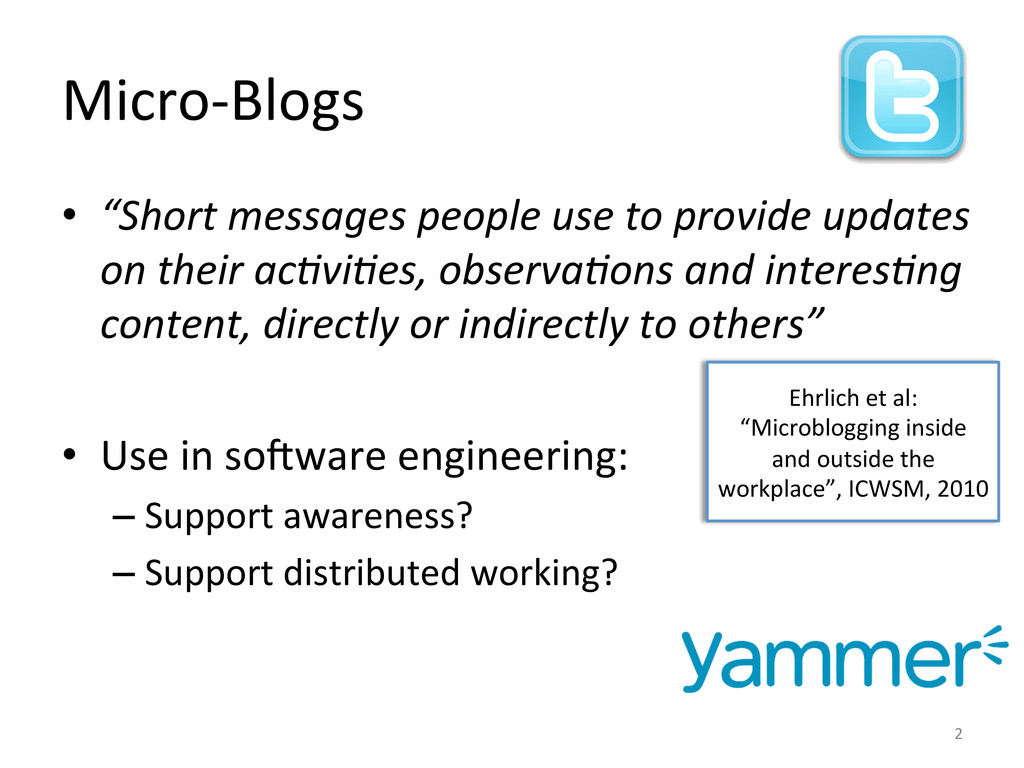 Micro-­‐Blogs	