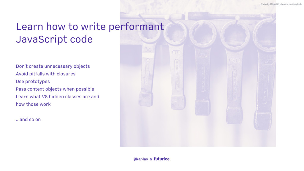 Learn how to write performant JavaScript code P...