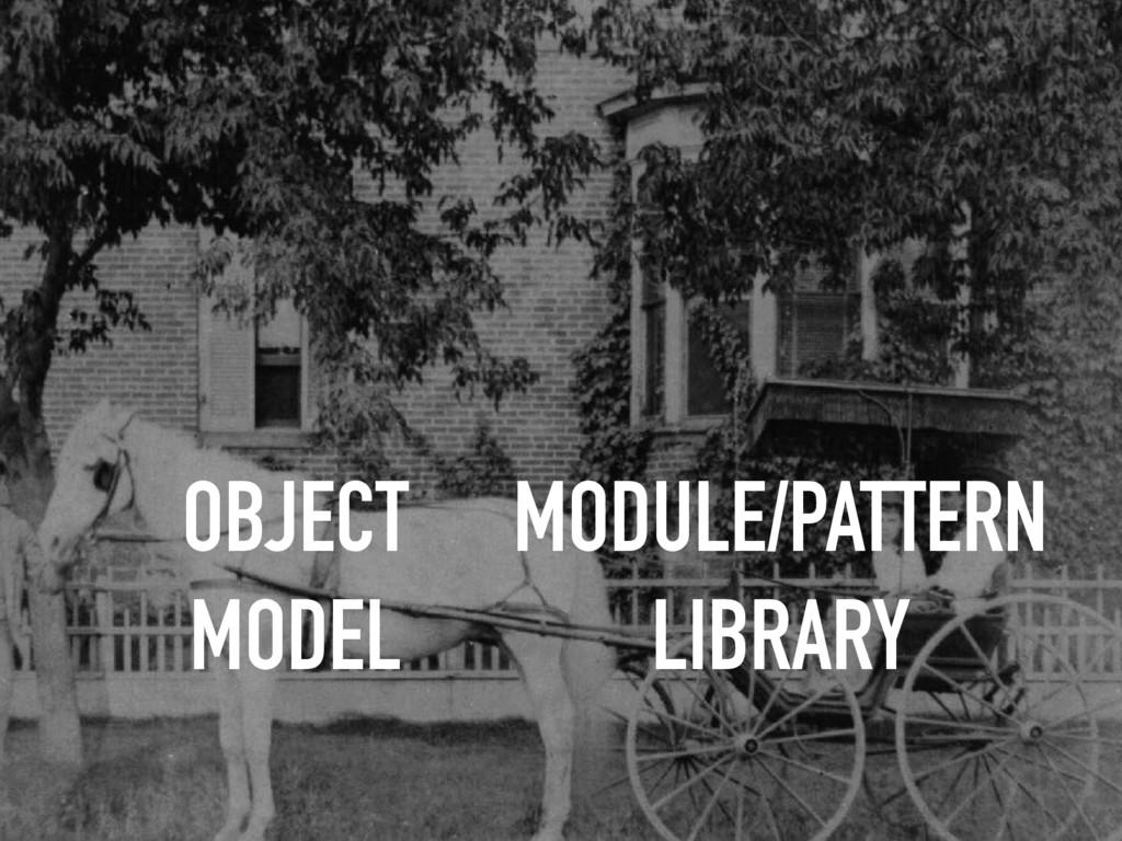 OBJECT MODEL MODULE/PATTERN LIBRARY