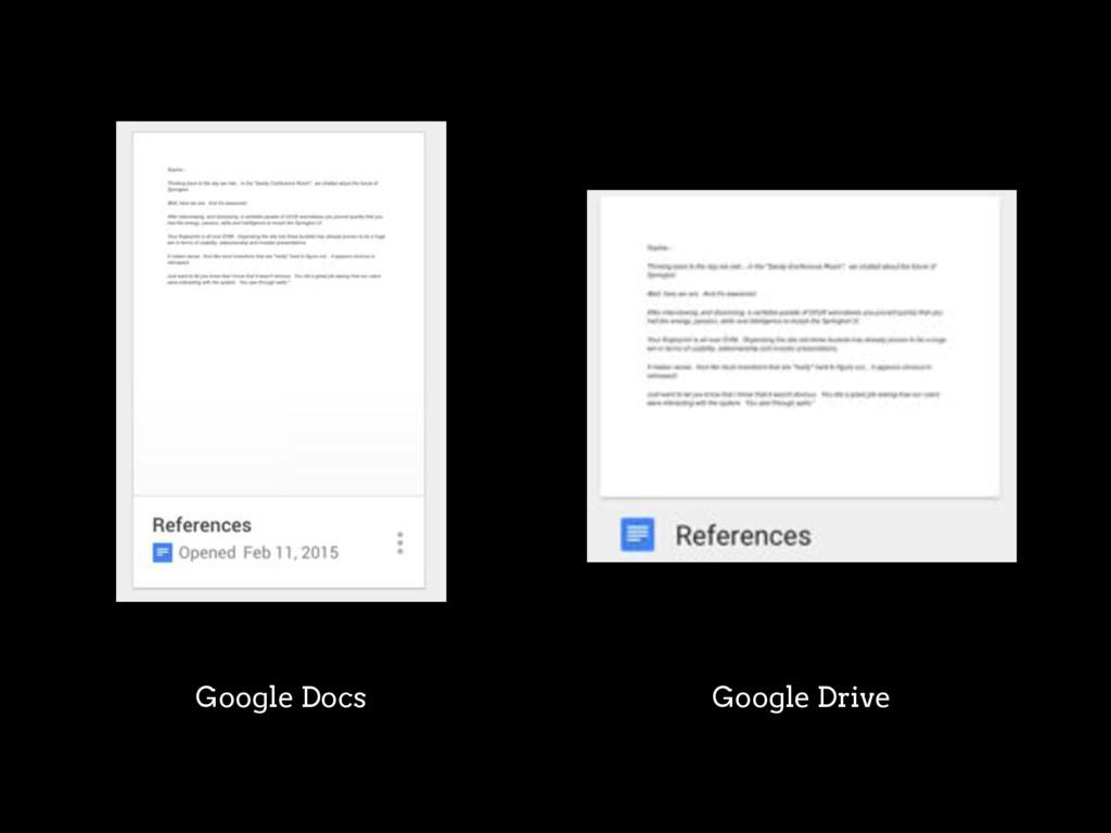 Google Docs Google Drive
