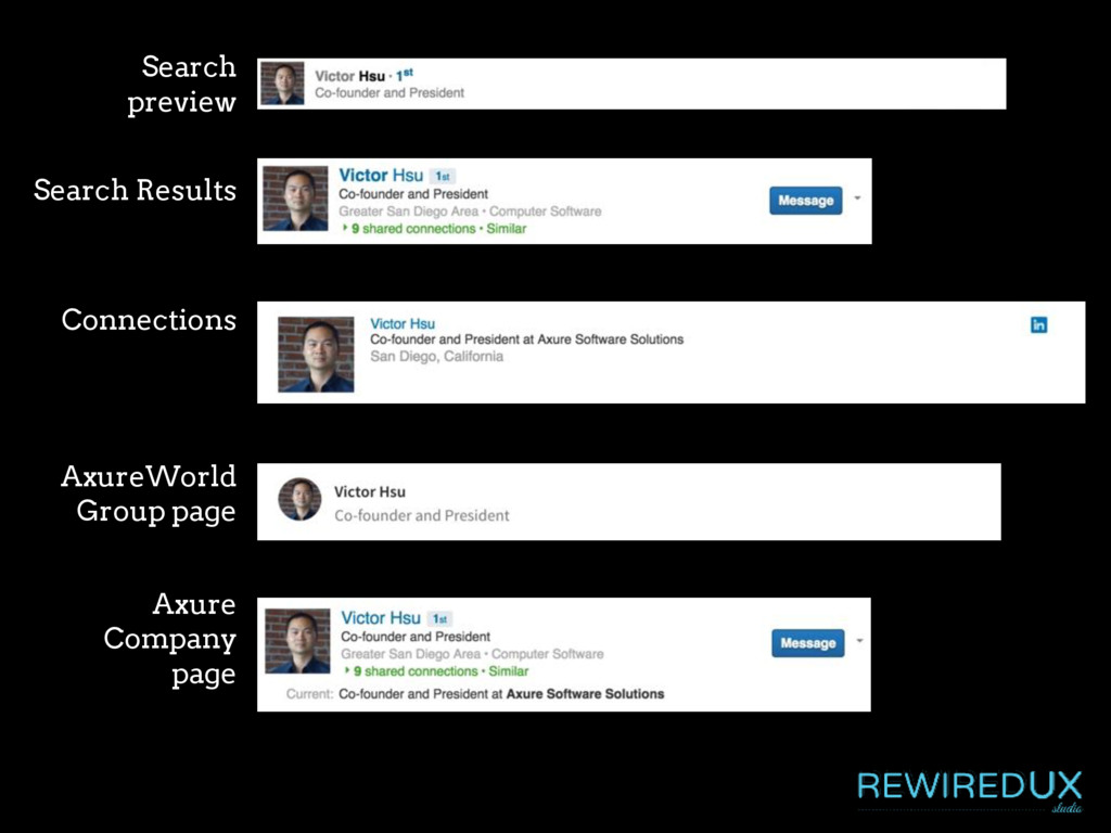 Search preview Search Results Connections Axure...