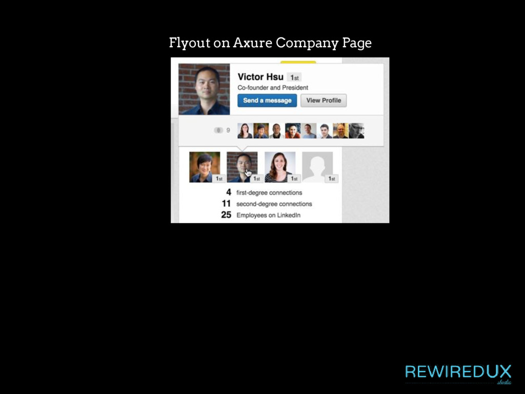 Flyout on Axure Company Page