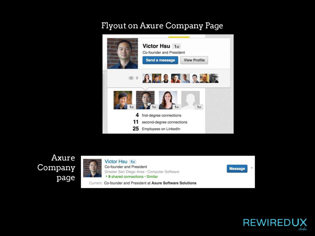 Axure Company page Flyout on Axure Company Page