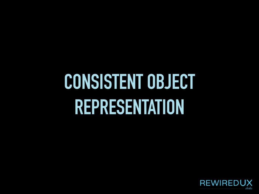 CONSISTENT OBJECT REPRESENTATION
