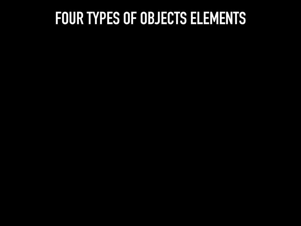 FOUR TYPES OF OBJECTS ELEMENTS