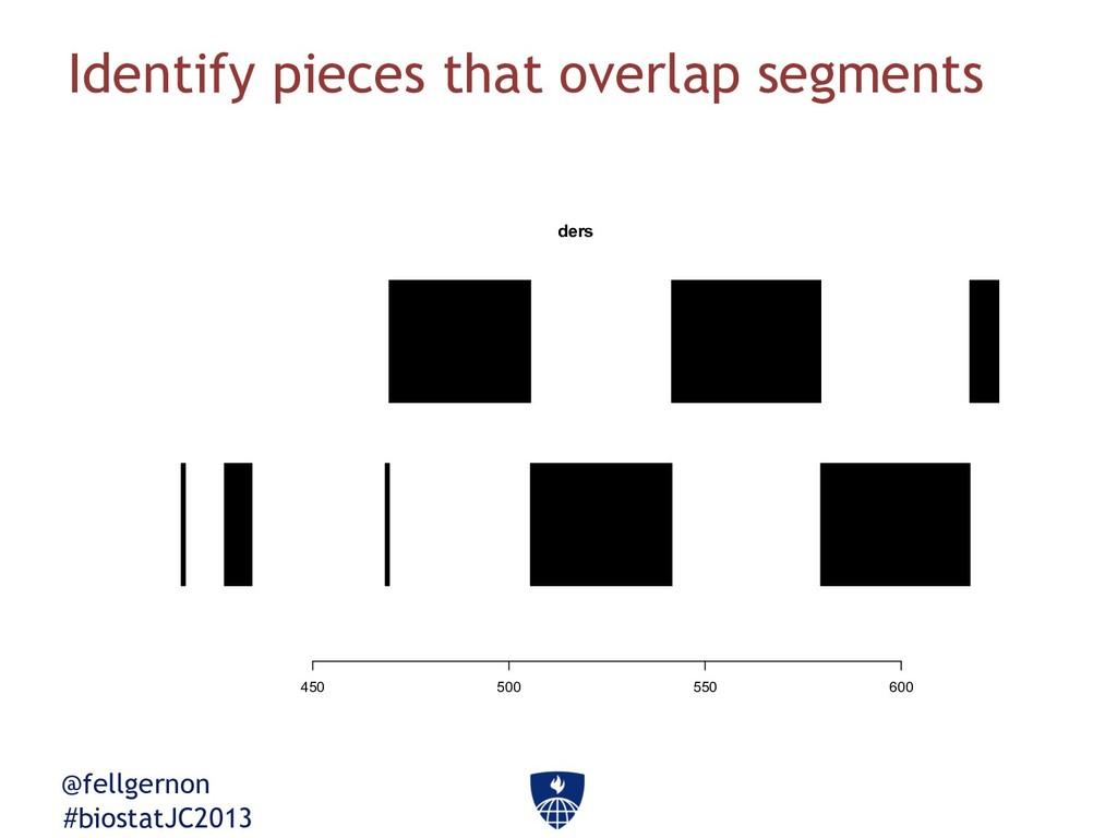 @fellgernon #biostatJC2013 Identify pieces that...