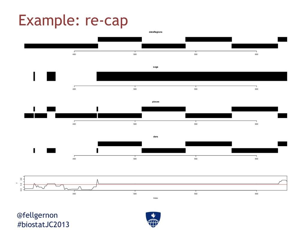 @fellgernon #biostatJC2013 Example: re-cap data...