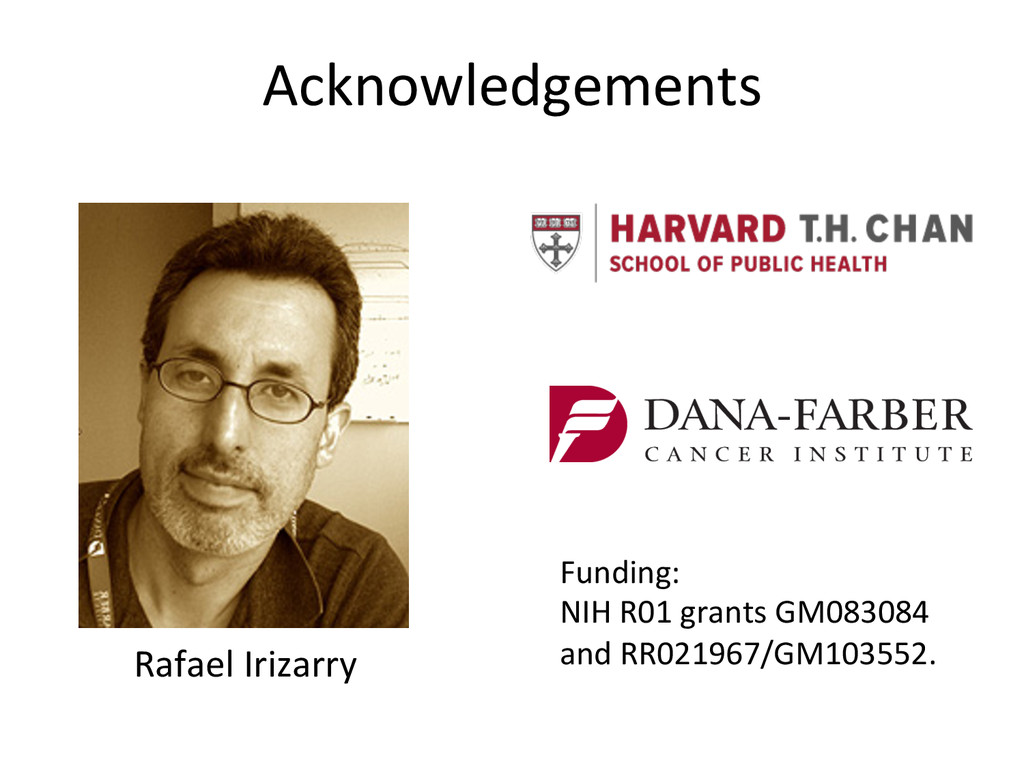 Acknowledgements  Rafael Irizarry   ...