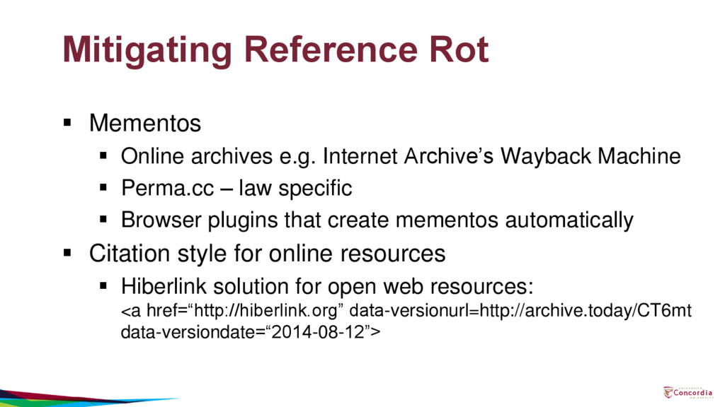Mitigating Reference Rot  Mementos  Online ar...