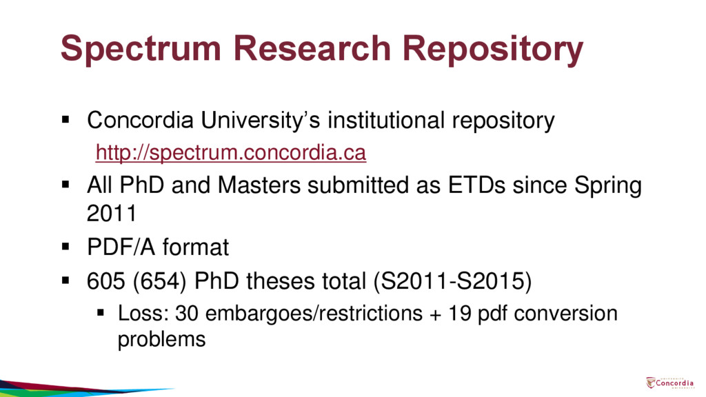 Spectrum Research Repository  Concordia Univer...