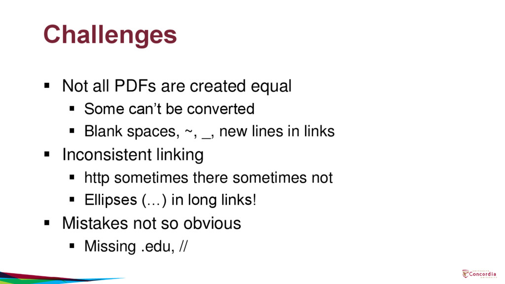 Challenges  Not all PDFs are created equal  S...