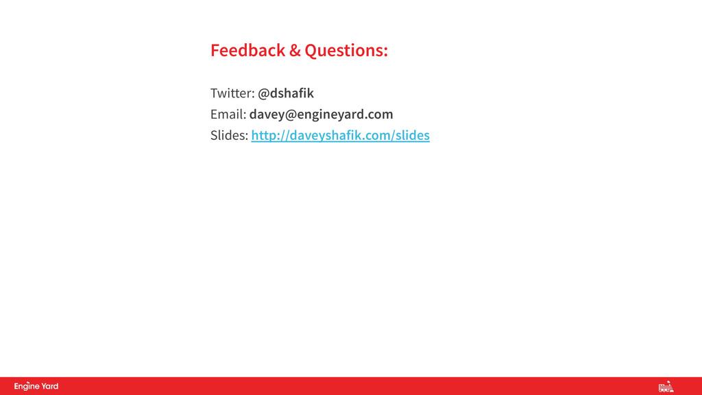 Feedback & Questions:  Twitter: @dshafik Email...