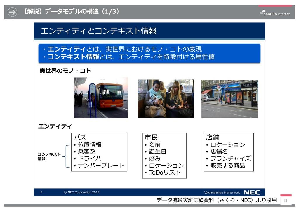 【解説】データモデルの構造(1/3) 16 9 © NEC Corporation 2019 ...