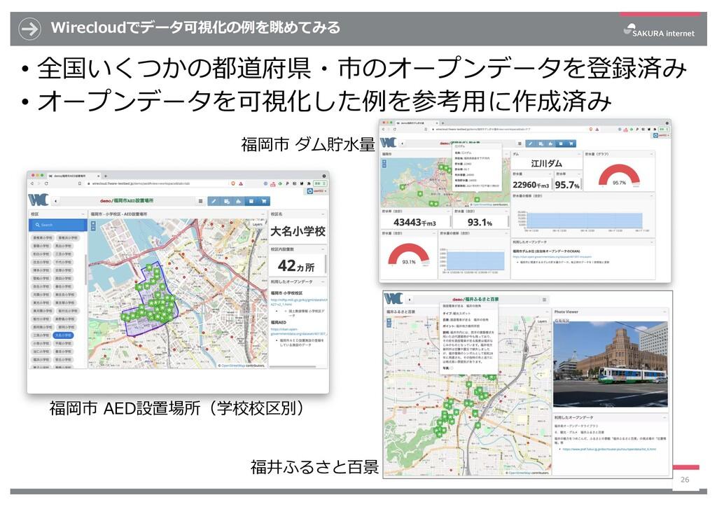 Wirecloudでデータ可視化の例を眺めてみる • 全国いくつかの都道府県・市のオープンデー...