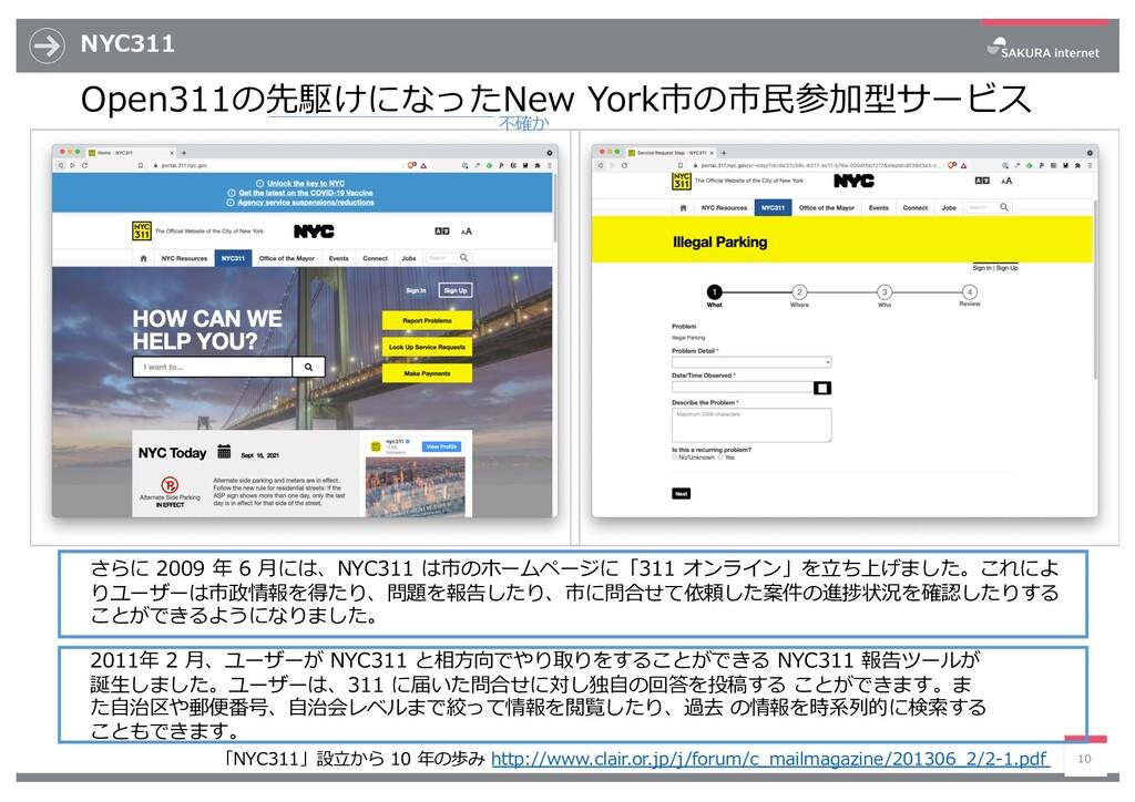 NYC311 Open311の先駆けになったNew York市の市⺠参加型サービス 10 さら...